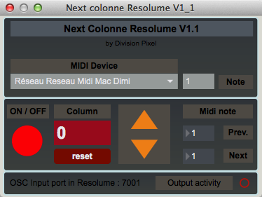 Next Colonne Resolume V1.1